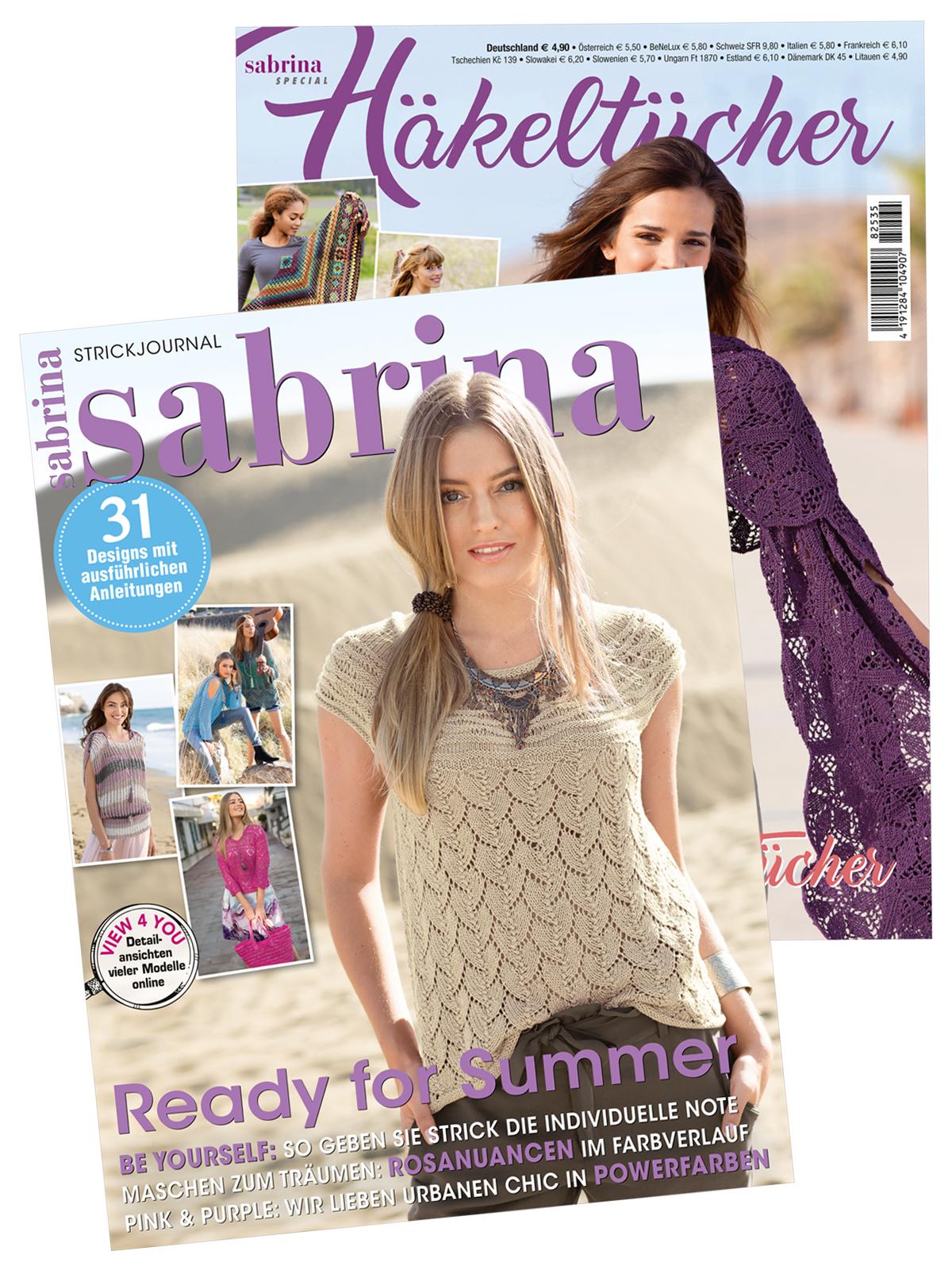 2 Zeitschriften: Sabrina Nr. 07/2018 und Sabrina Special Häkeltücher