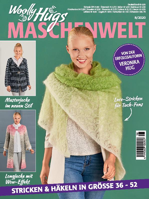Woolly Hugs Maschenwelt Nr. 8/2020 - Stricken & Häkeln in Größe 36-52