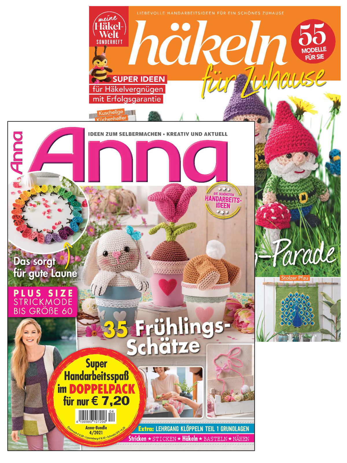 2 Zeitschriften: Anna Nr. 4/2021 und HÄ 034