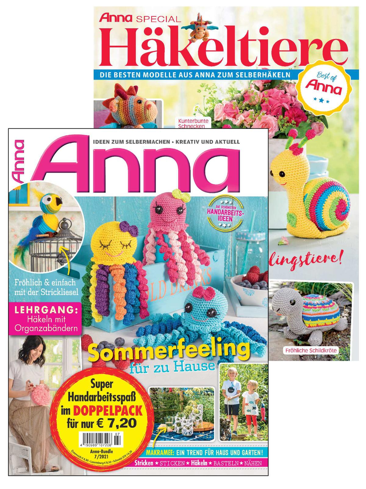 2 Zeitschriften: Anna Nr. 7/2021 und A 513
