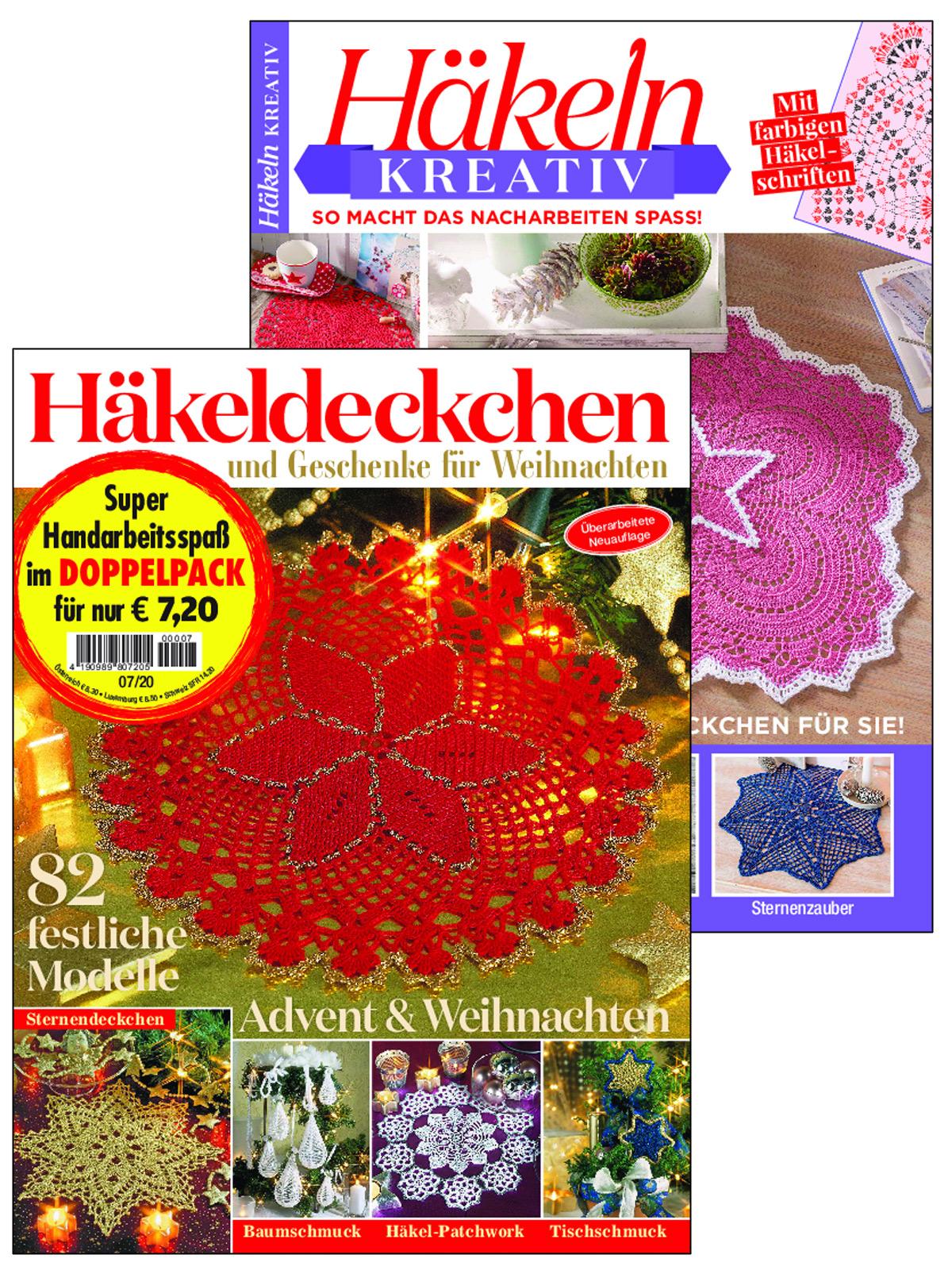 Zwei Zeitschriften im Doppelpack: Weihnachtliche Häkelideen