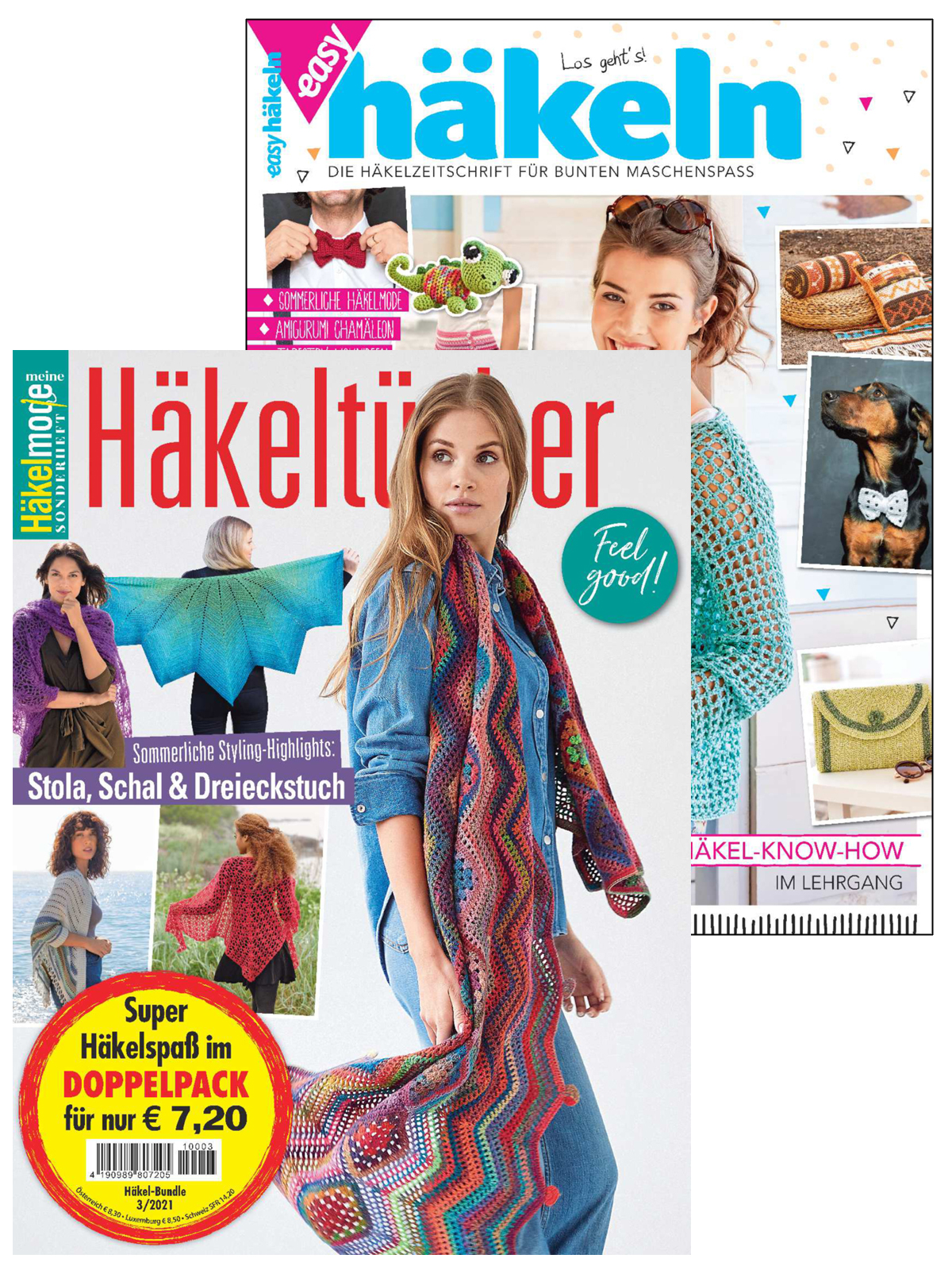 Zwei Zeitschriften: MH 032 Häkeltücher + EH 17 002 Easy Häkeln