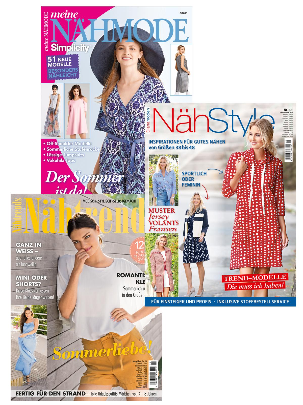 Drei Zeitschriften im supergünstigen Sparpaket!