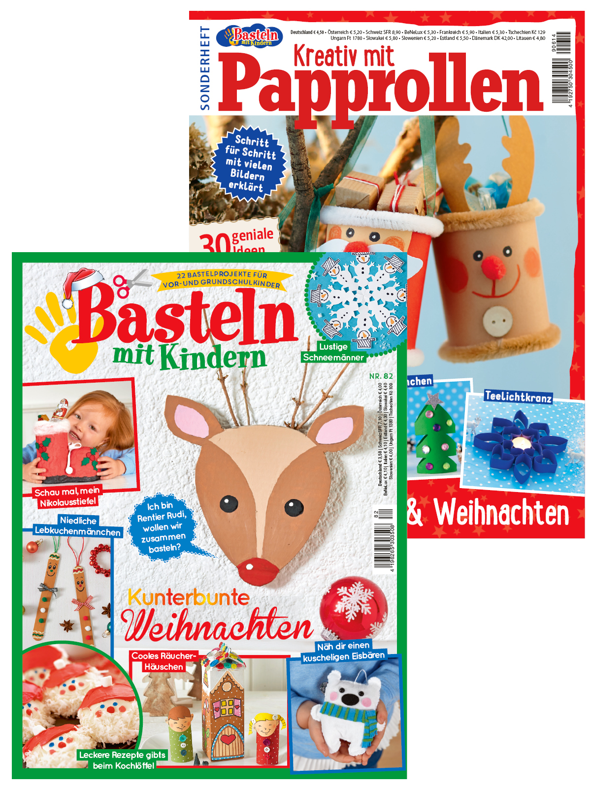"""Zwei Zeitschriften im Sparpaket """" Kinder basteln für Weihnachten """" - BK 614 und BK 82/19"""