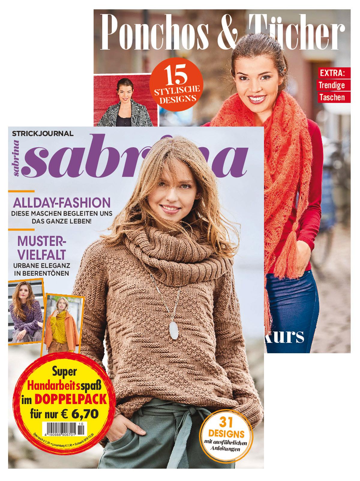 """2 Zeitschriften: Sabrina Nr. 10/2020 und 230021/MS 010 """"Poncho, Tü, Ta"""""""