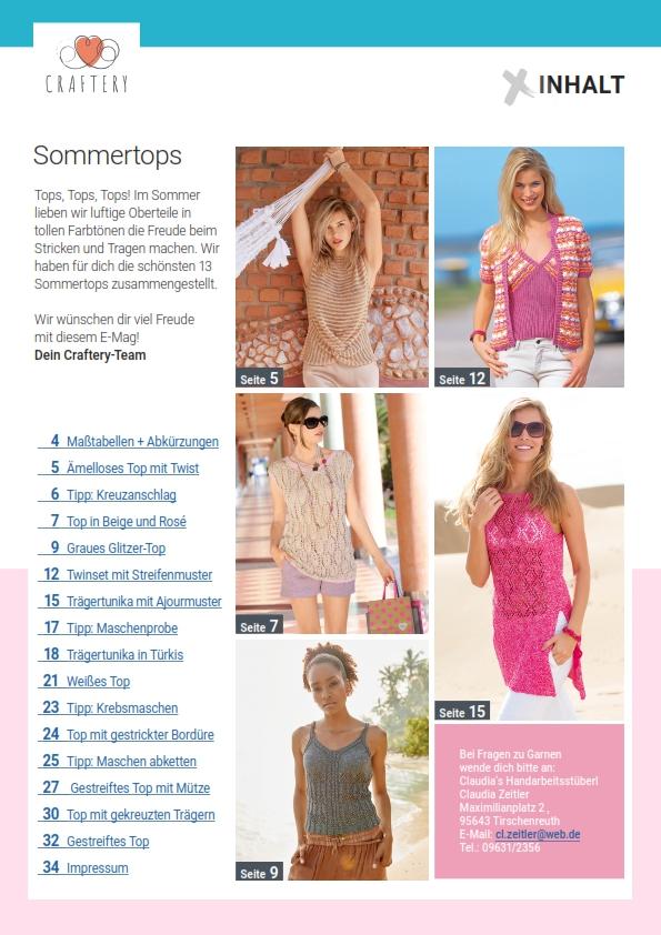 E-Magazin Nr. 03/2021: Sommertops - Selbstgestrickte Lieblingsstücke