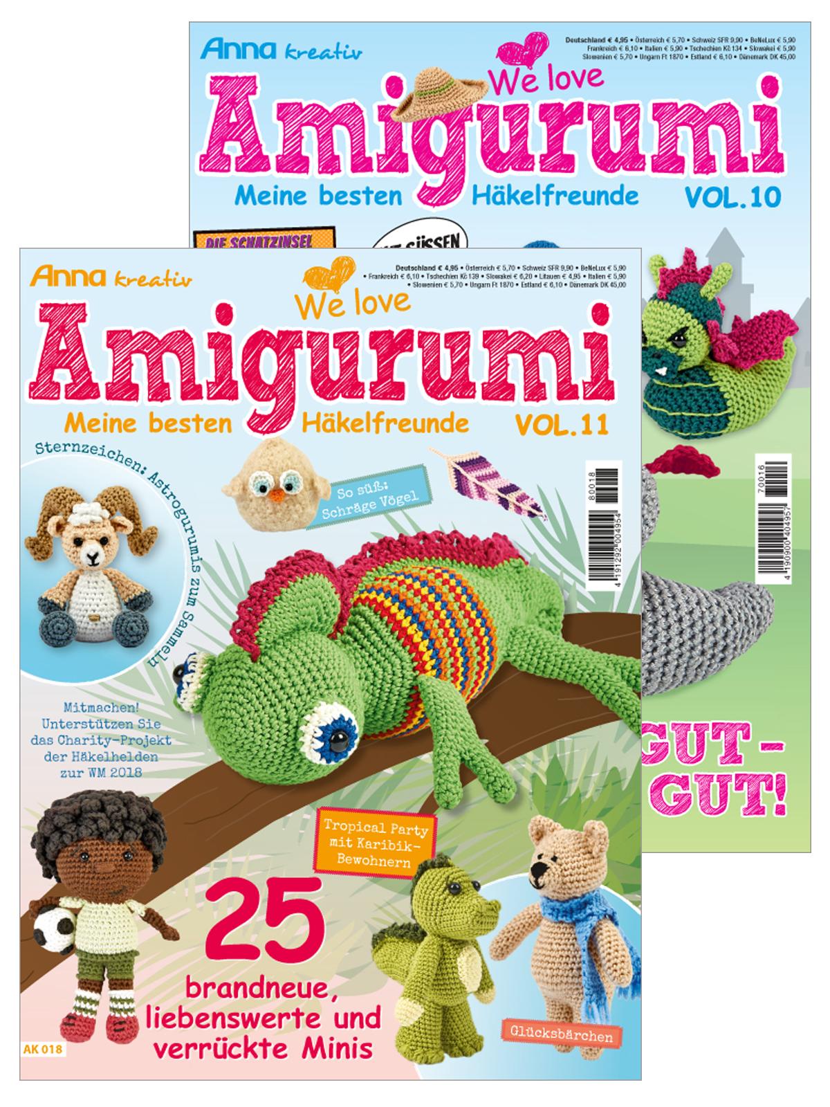 Zwei Zeitschriften: Amigurumispaß im Doppelpack - Vol. 11 und Vol. 10