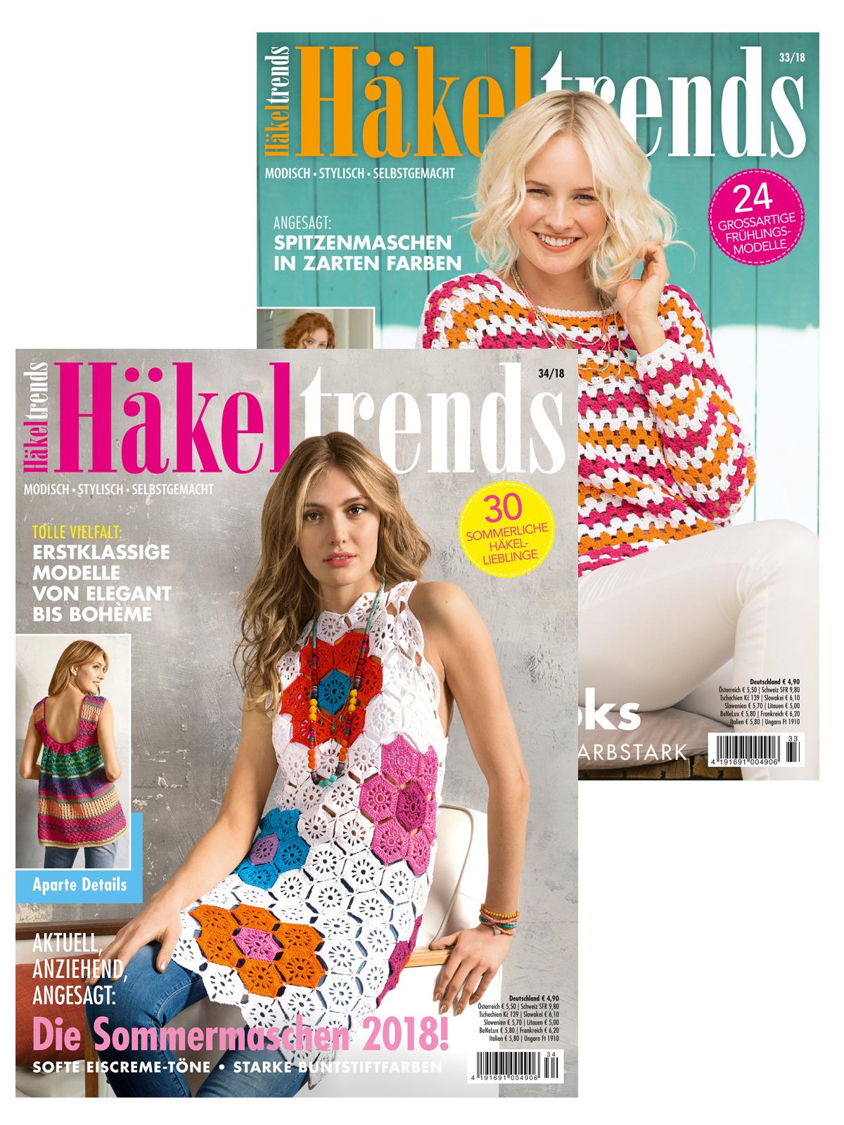 Zwei Zeitschriften im Sparpaket! Häkeltrends Nr. 33/18 und Nr. 34/18