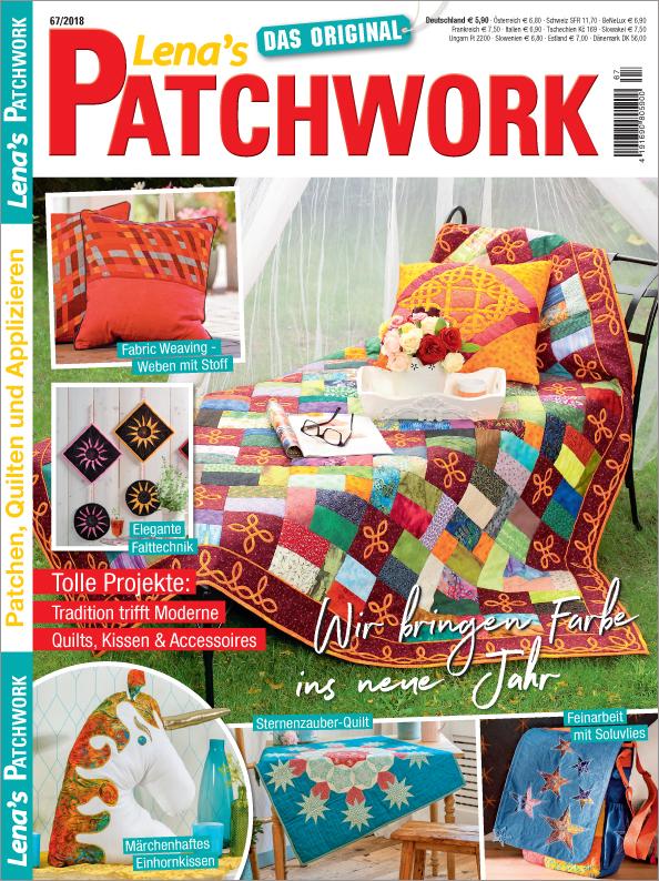 Lena´s Patchwork Nr. 67/2018 - Wir bringen Farbe ins neue Jahr