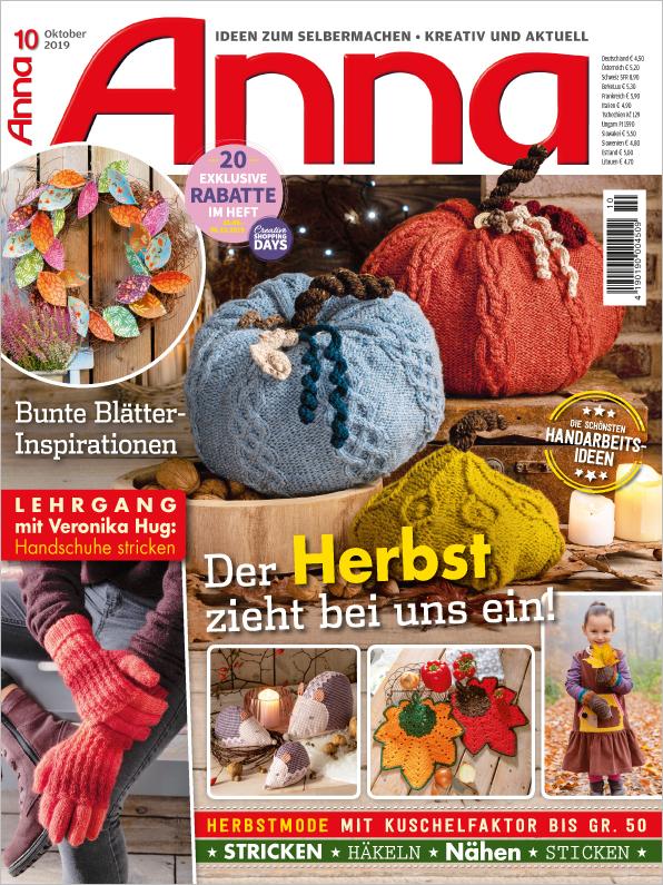 Anna Nr. 10/2019 - Der Herbst zieht bei uns ein!