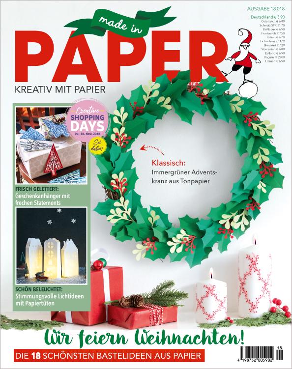 Made in Paper Nr. 18/2018 -  Wir feiern Weihnachten!