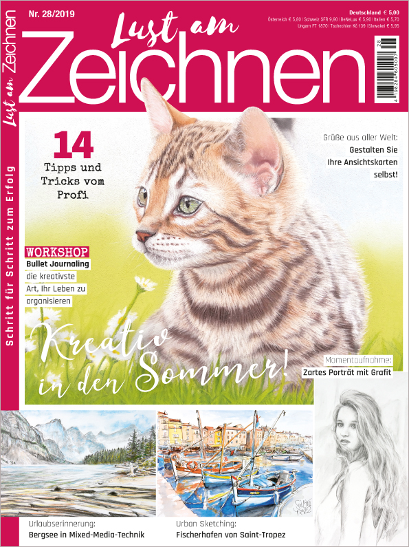 Lust am Zeichnen Nr. 28/2019 - Kreativ in den Sommer!
