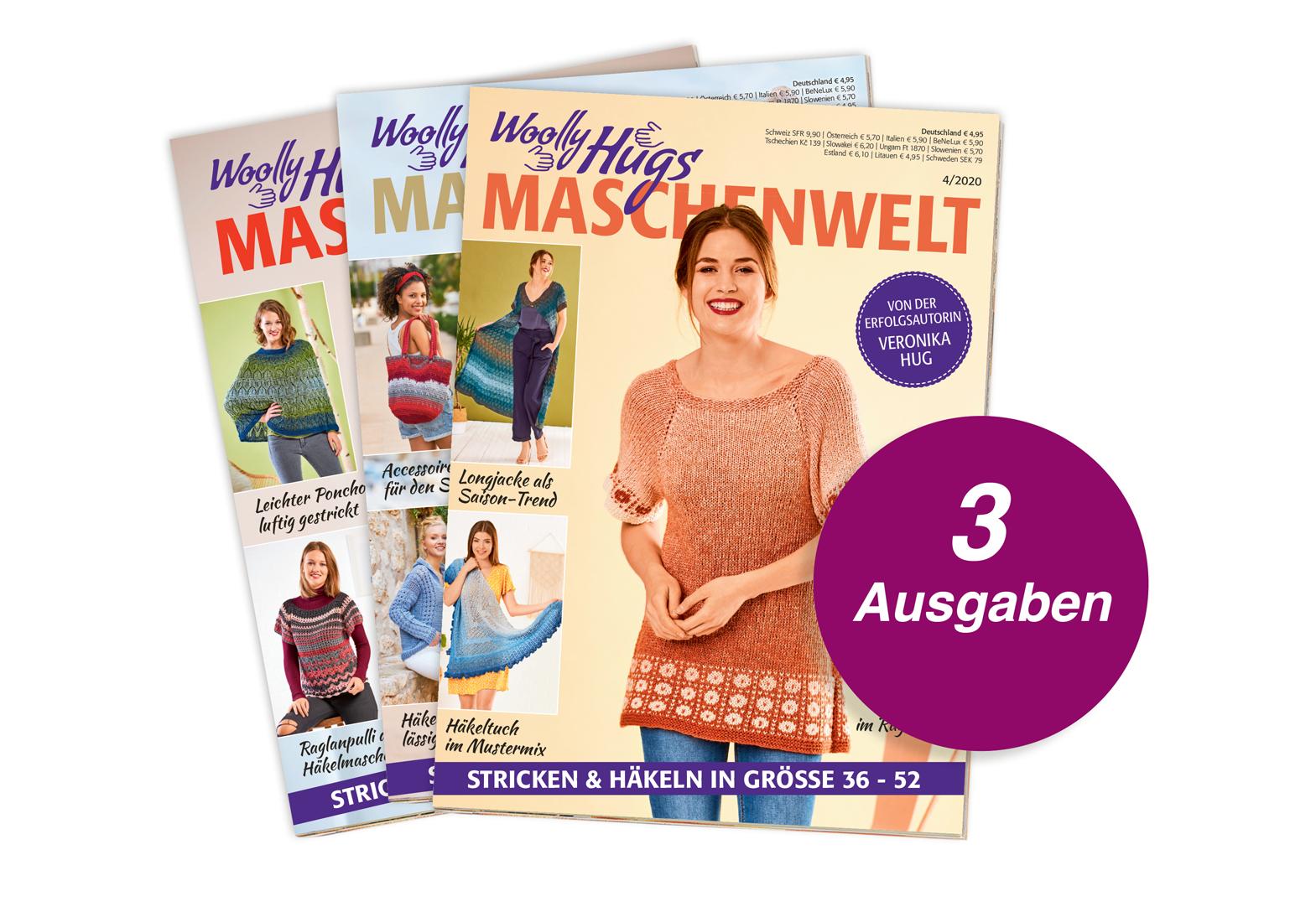 Woolly Hugs Maschenwelt - 3 Ausgaben Testabo