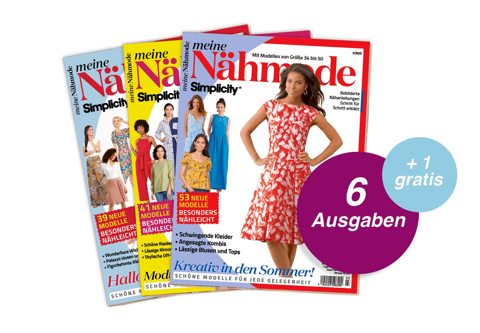 Meine Nähmode - Jahresabo + 1 Ausgabe gratis