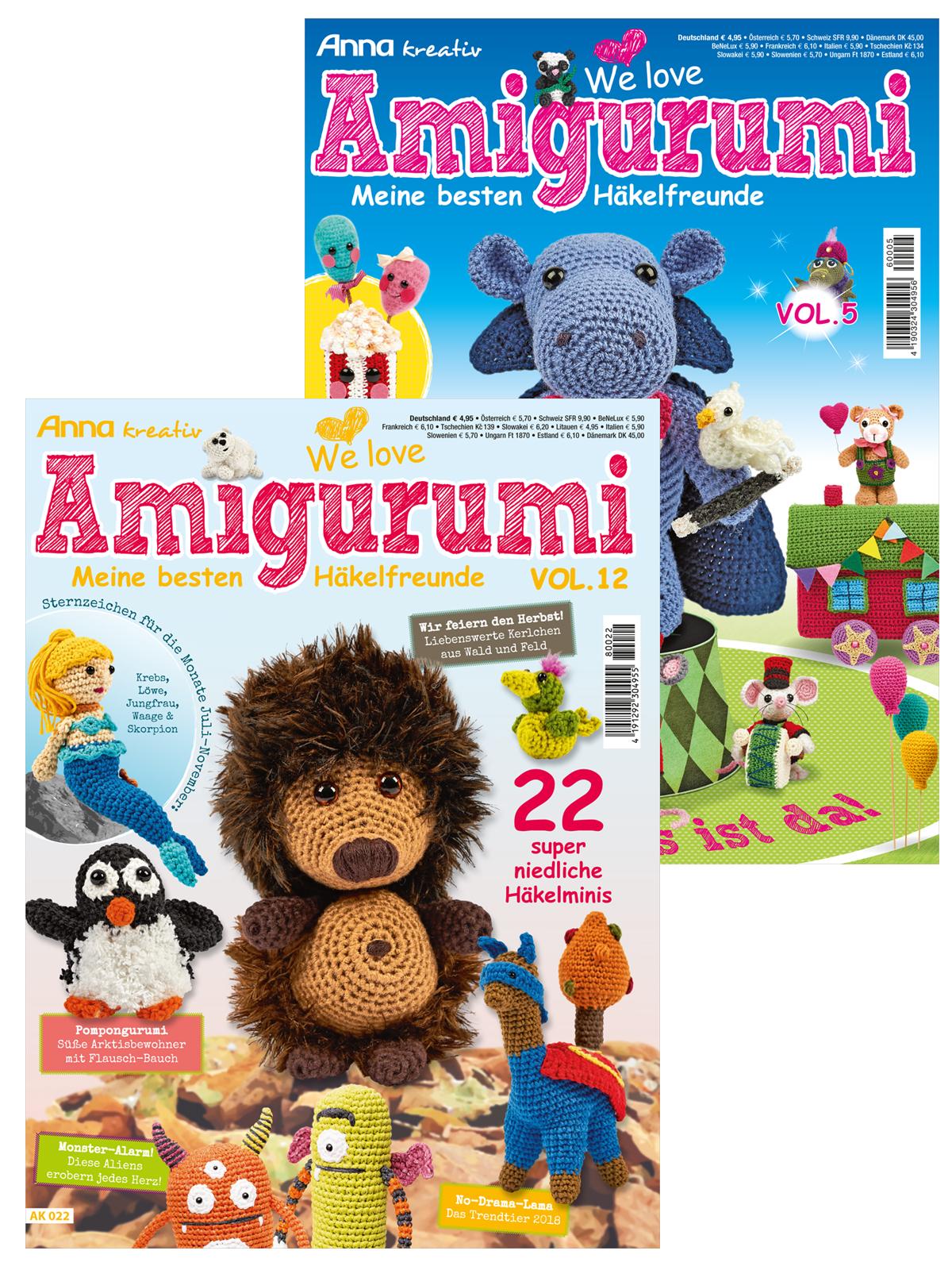 Zwei Zeitschriften - Amigurumispaß im Doppelpack - Vol. 12 und Vol. 5