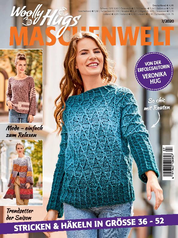 Woolly Hugs Maschenwelt Nr. 7/2020 - Stricken und Häkeln in Größe 36-52