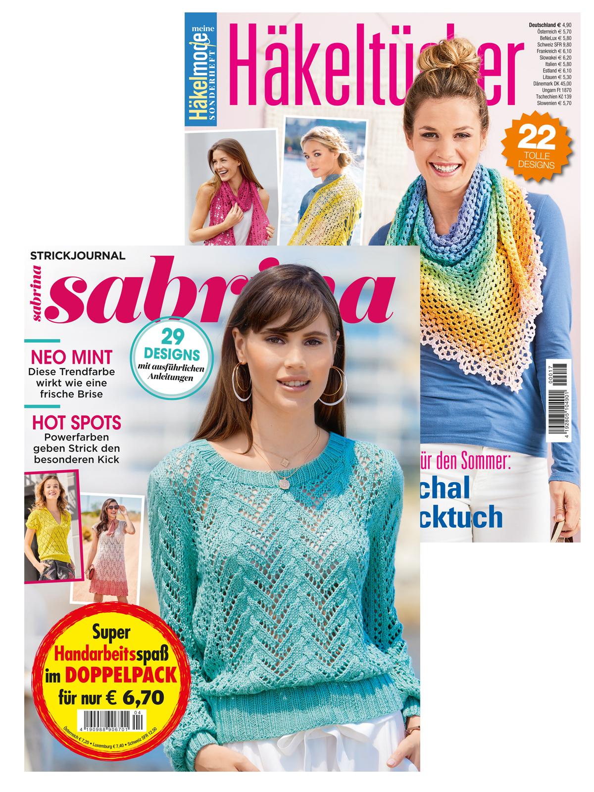 """2 Zeitschriften: Sabrina Nr. 04/2020 und  """"Häkeltücher"""" (MH017)"""