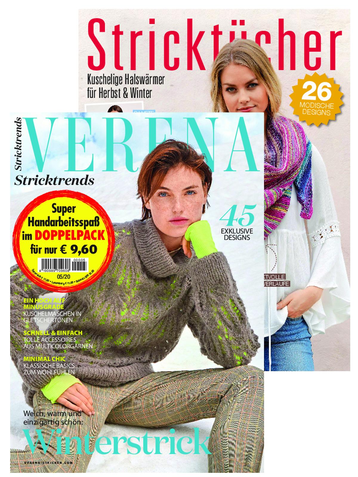 """Zwei Zeitschriften - Verena Nr. 5/2020 und 230021/MS 016 """"Stricktücher"""""""