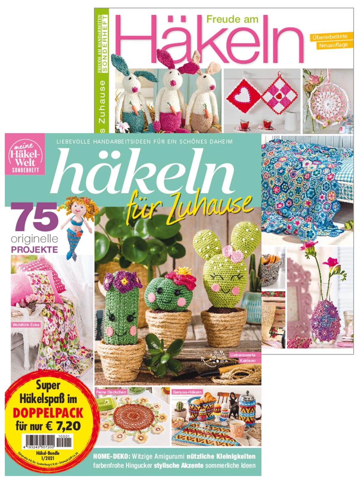 Zwei Zeitschriften: Häkeln für Zuhause