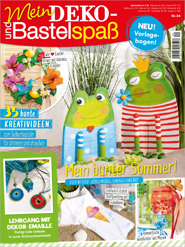 Mein Deko- und Bastelspaß Nr. 34/2019 - Mein bunter Sommer!