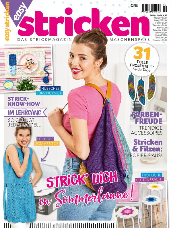 Easy Stricken Nr. 02/2018 - Strick Dich in Sommerlaune