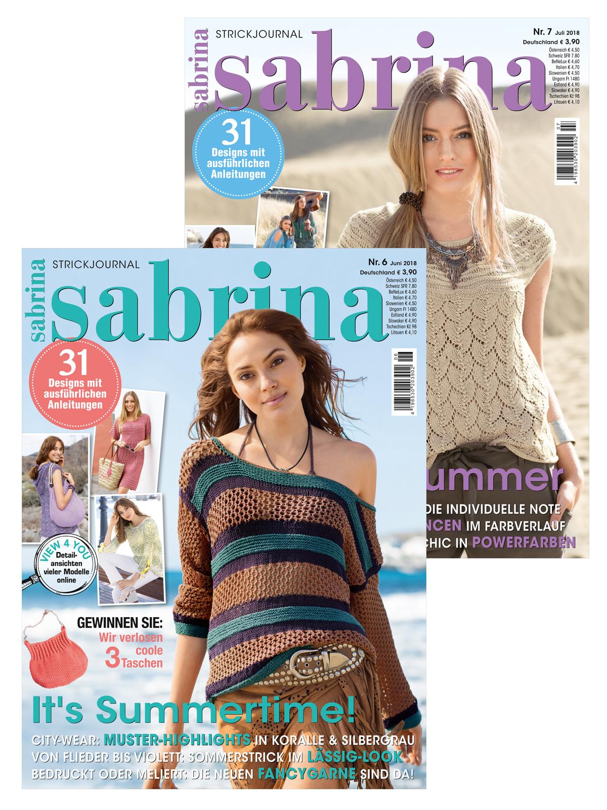 Zwei Zeitschriften im Doppelpack! Sabrina Nr. 06 und 07/2018