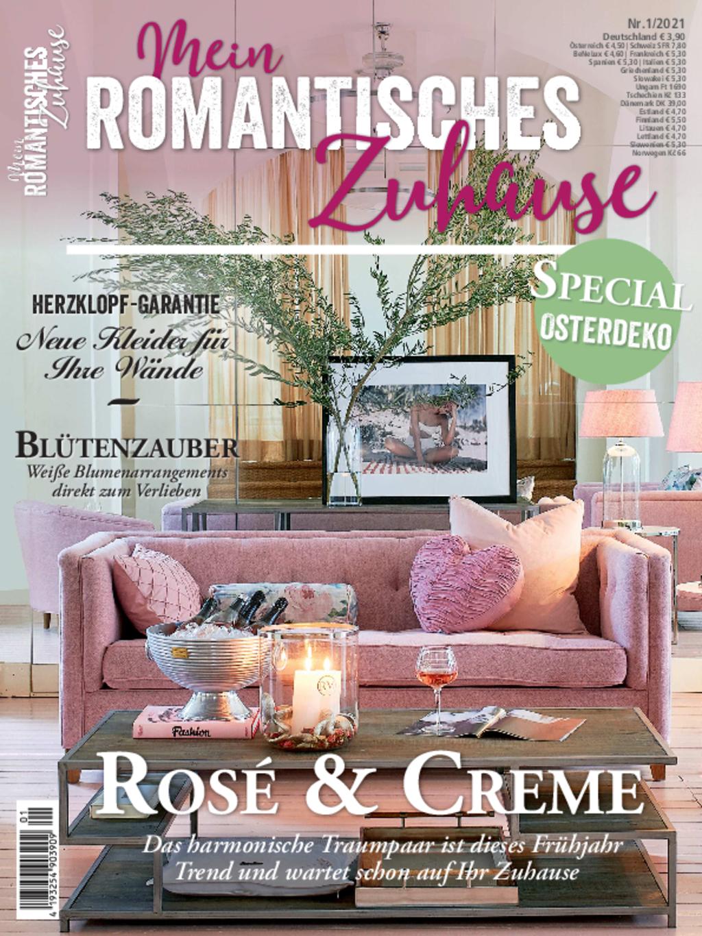 Mein romantisches Zuhause Nr. 01/2021 - Rosé & Creme