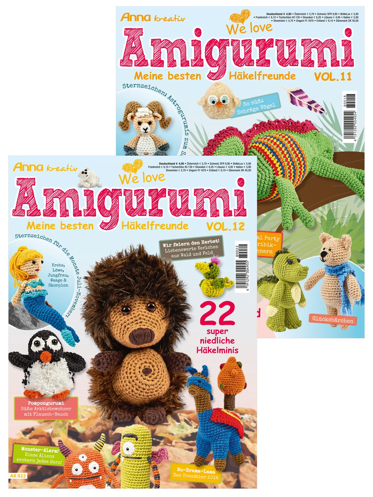 Zwei Zeitschriften im Sparpaket! Anna Kreativ - Amigurumi Vol.11 und Vol. 12