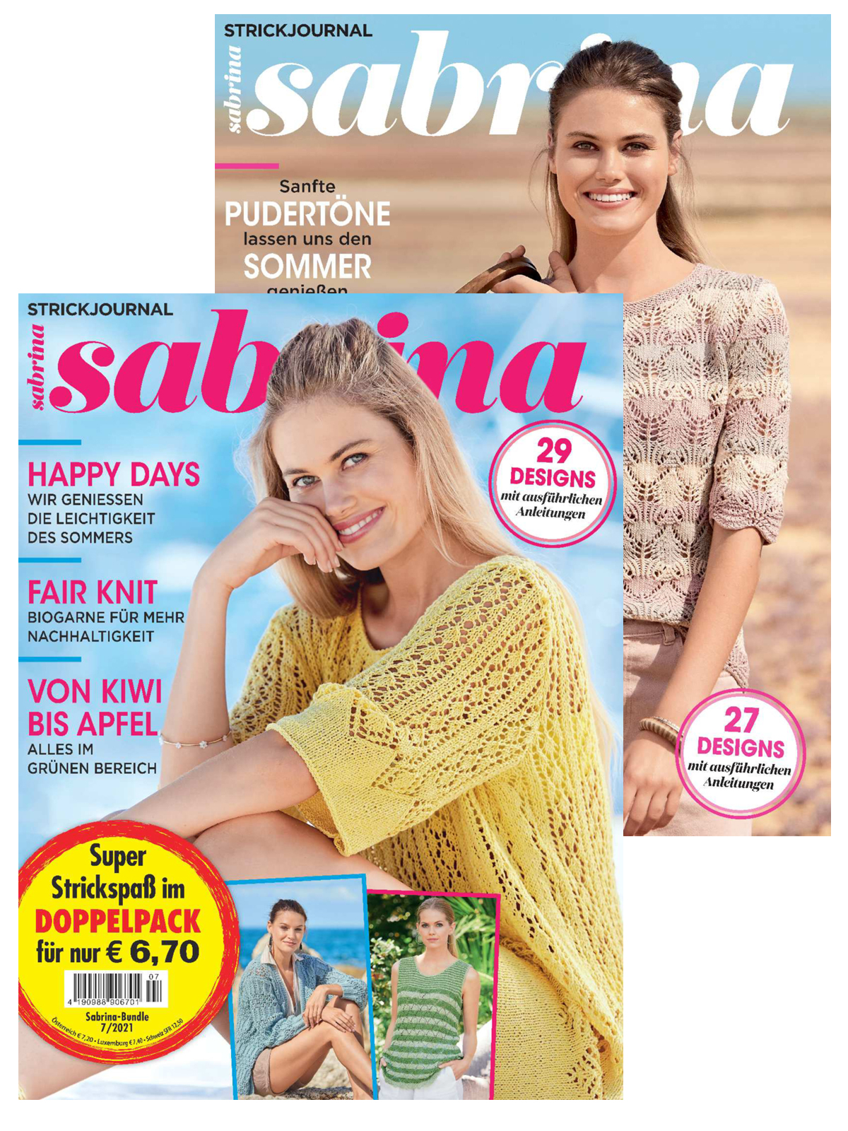 2 Zeitschriften: Sabrina Nr. 07/2021 und Sabrina Nr. 08/2020