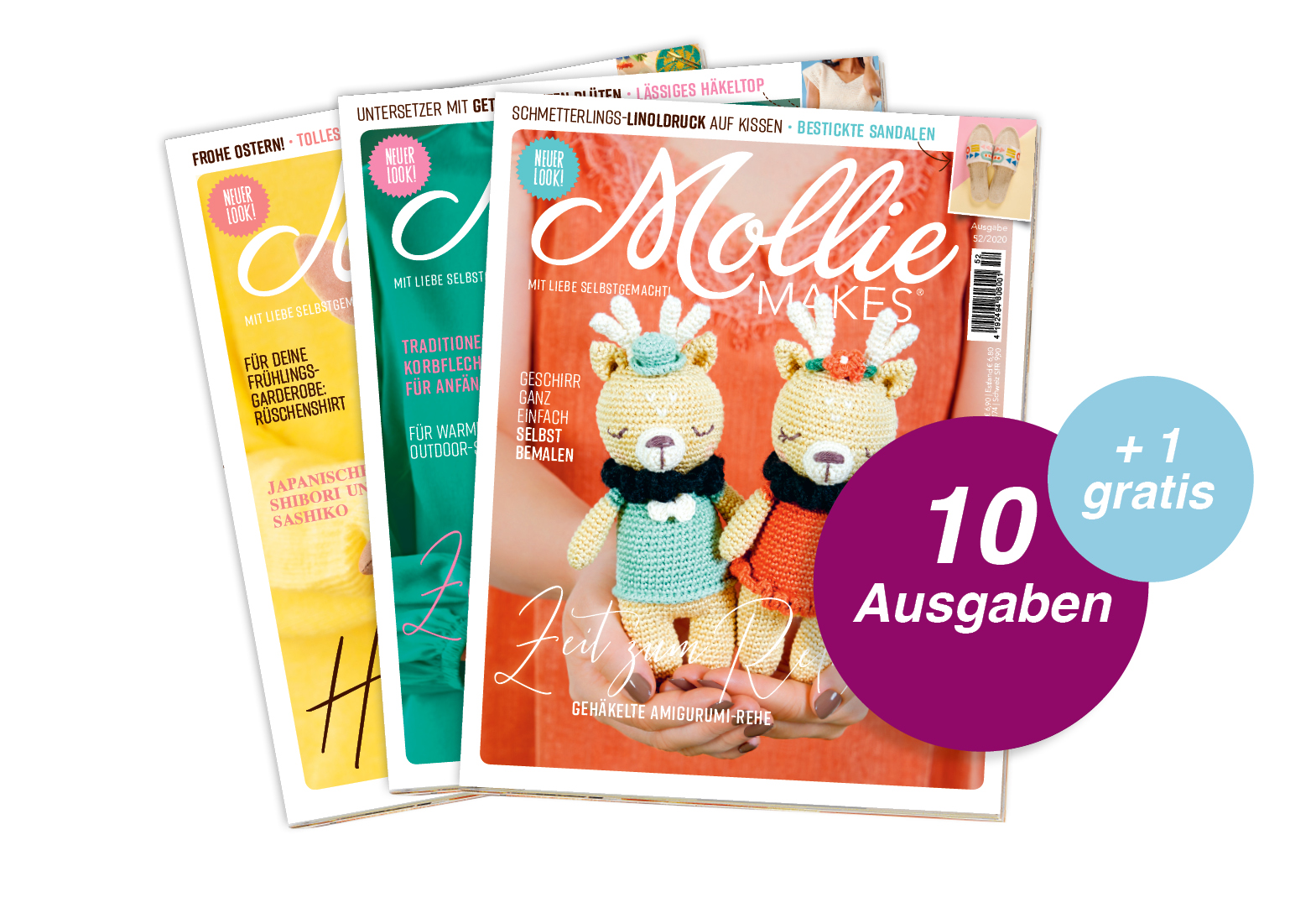 Mollie Makes - Jahresabo + 1 Ausgabe gratis
