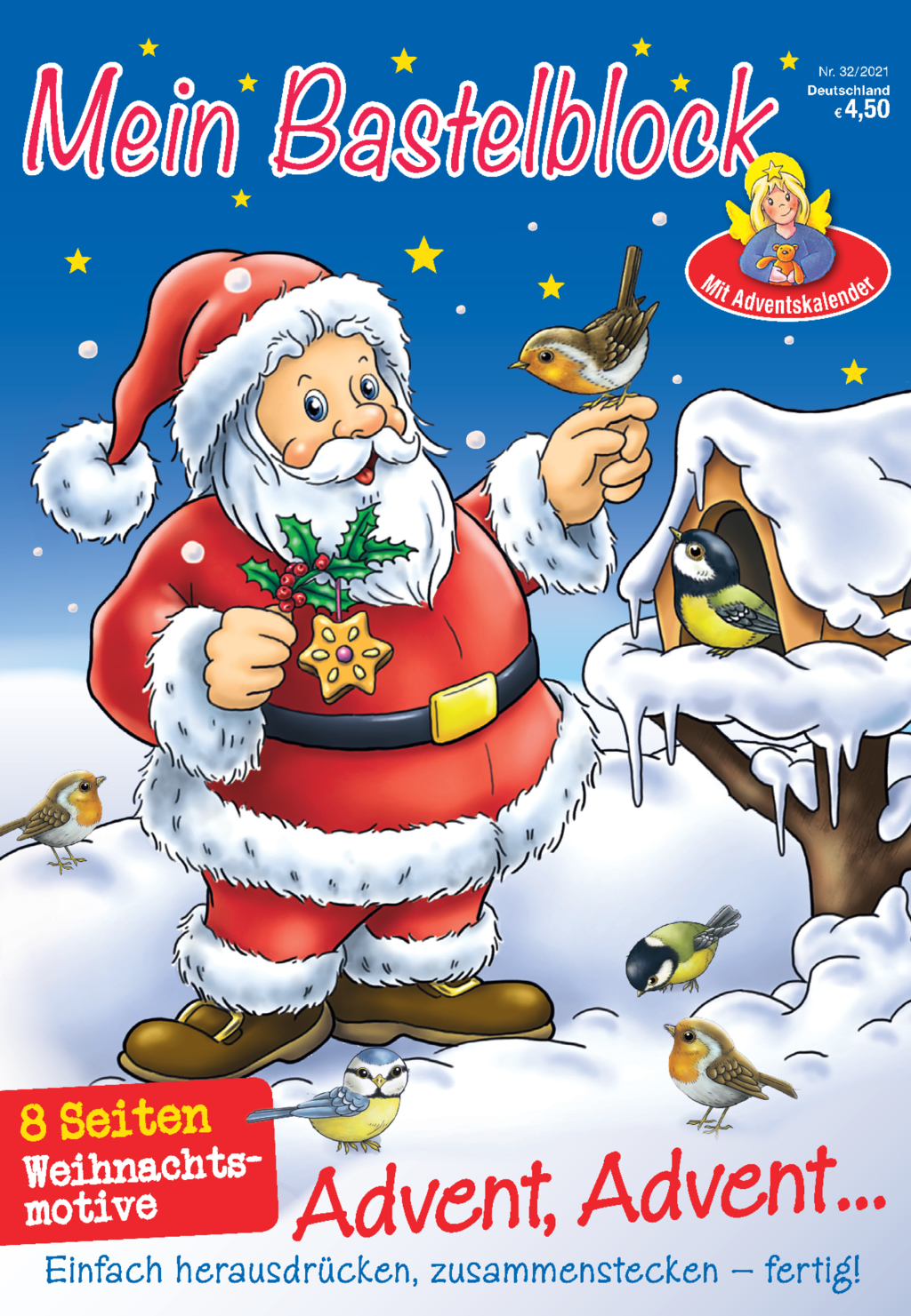 Bastelblock Weihnachten 32/21 - Advent, Advent