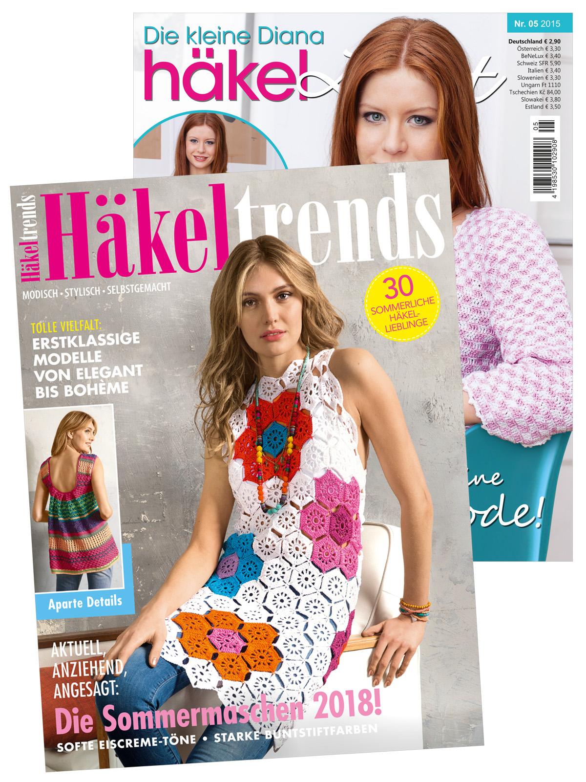 Zwei Zeitschriften: Häkeltrends und Kleine Diana