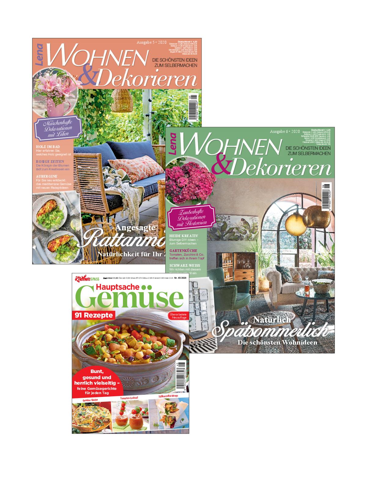 3 Zeitschriften statt Euro 11,70 nur Euro 5,85 zum Spartarif
