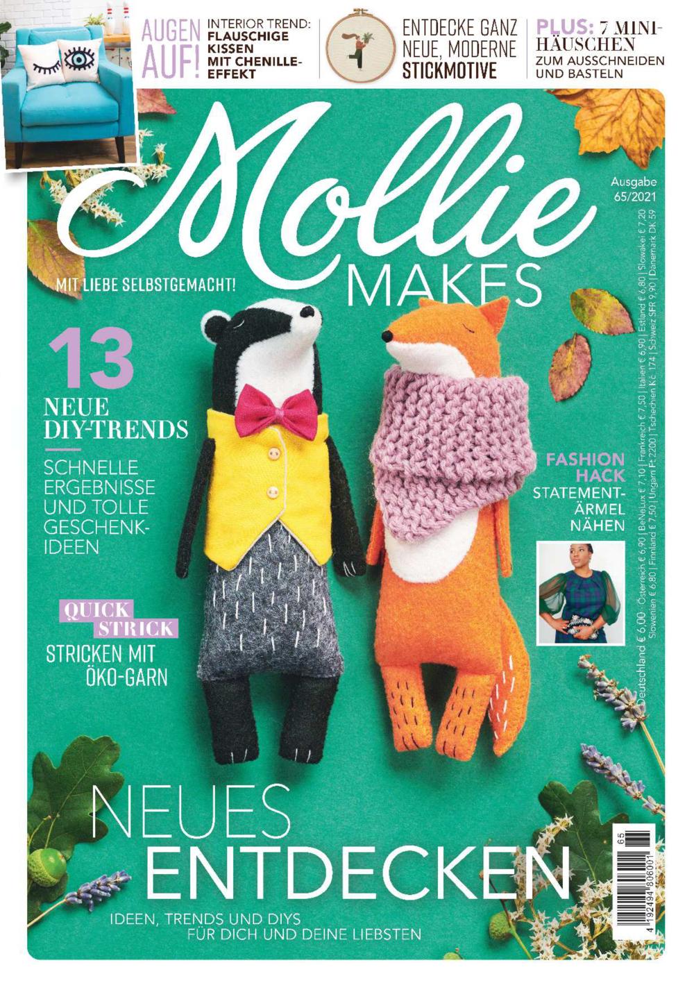 Mollie Makes Nr. 65/2021 - Neues entdecken