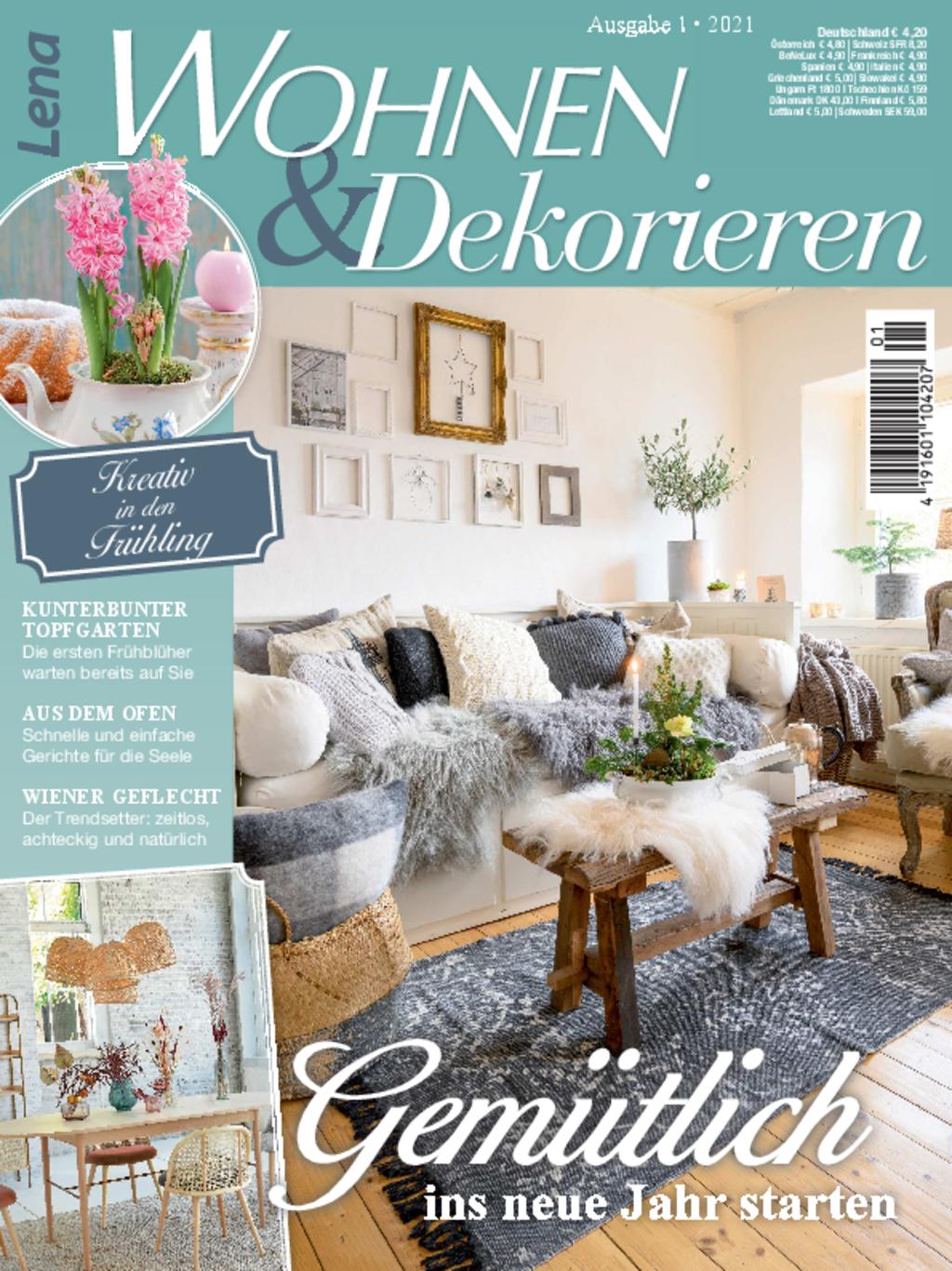 Lena Wohnen & Dekorieren Nr. 1/2021 - Gemütlich ins neue Jahr