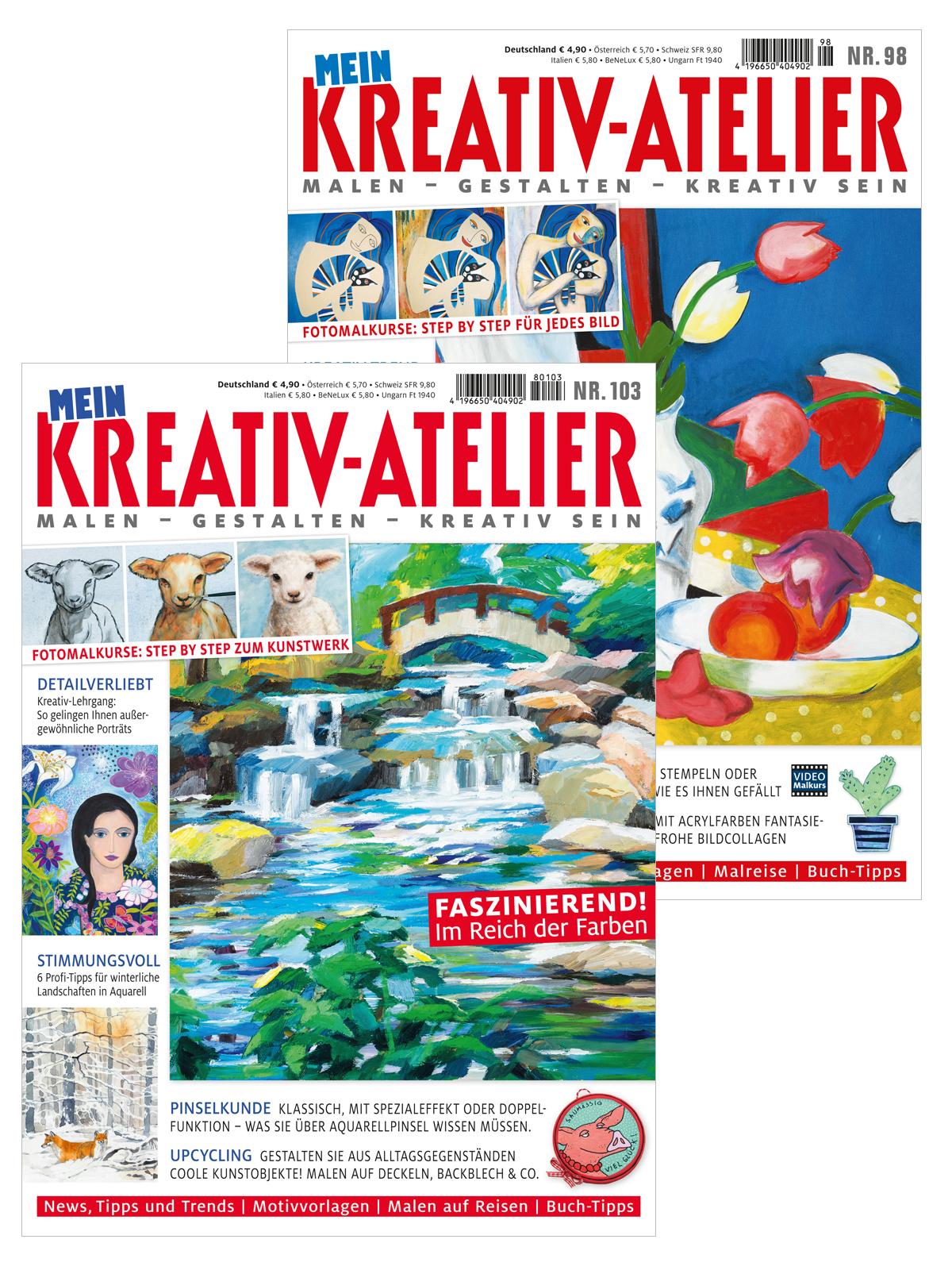 Zwei Zeitschriften im Sparpaket! Mein Kreativatelier Nr. 103 und Nr.  98