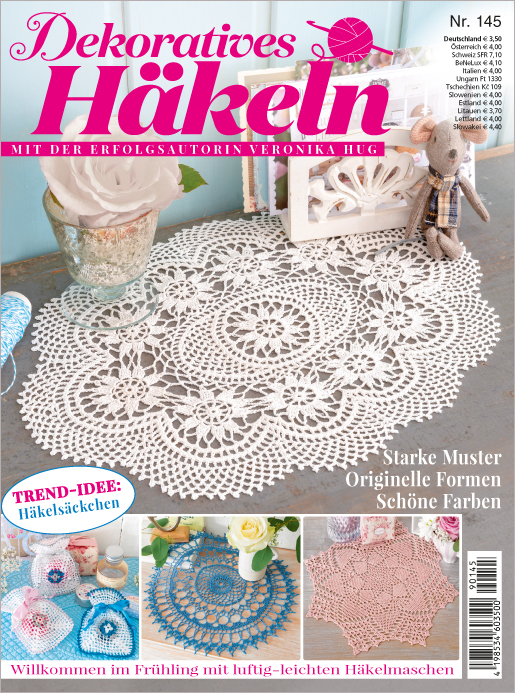 Dekoratives Häkeln Nr. 145/2019  - Starke Muster, originelle Formen, schöne Farben