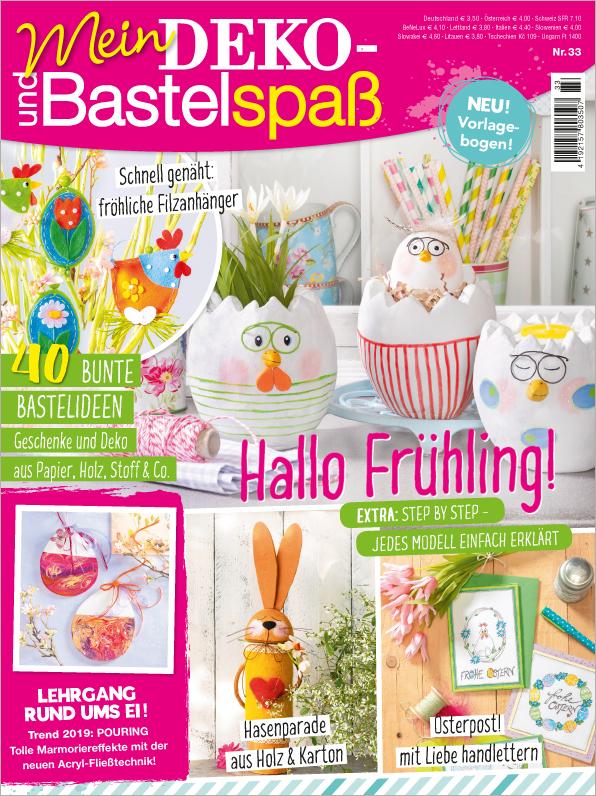 Mein Deko- und Bastelspaß Nr. 33/2019 - Hallo Frühling!