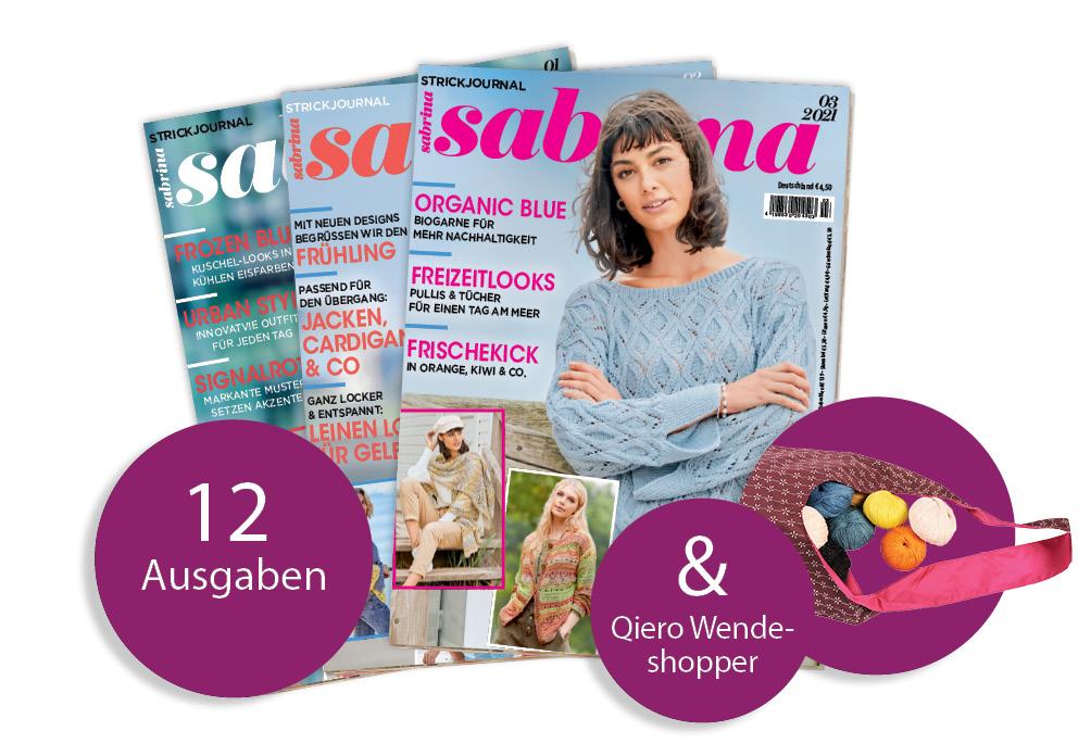 Sabrina - Jahresabo + Wendeshopper Blümchen