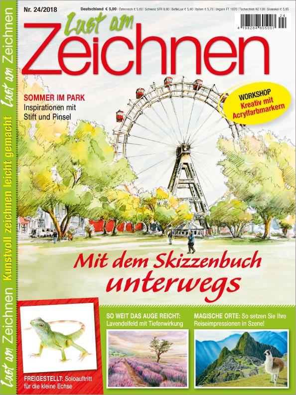 Lust am Zeichnen Nr. 24/2018 - Mit dem Skizzenbuch unterwegs