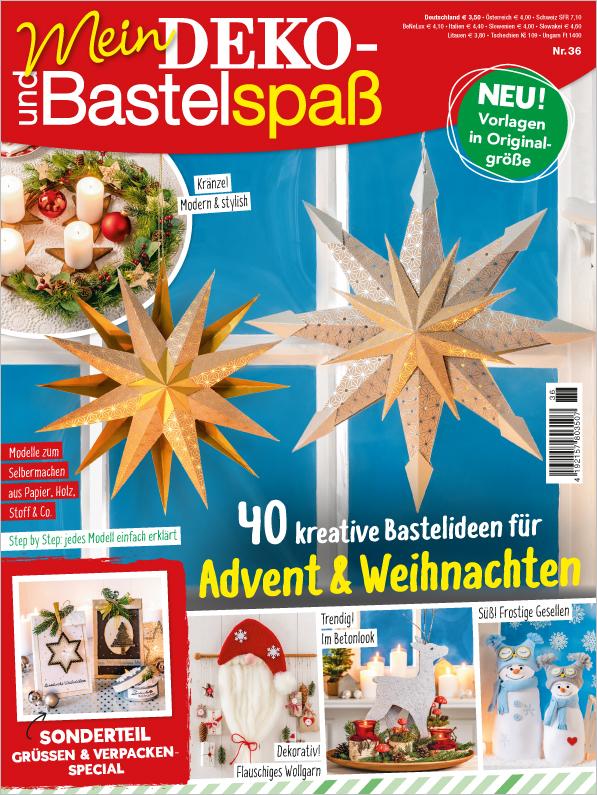 Mein Deko- und Bastelspaß Nr.36/2019 - 40 kreative Bastelideen für Advent & Weihnachten