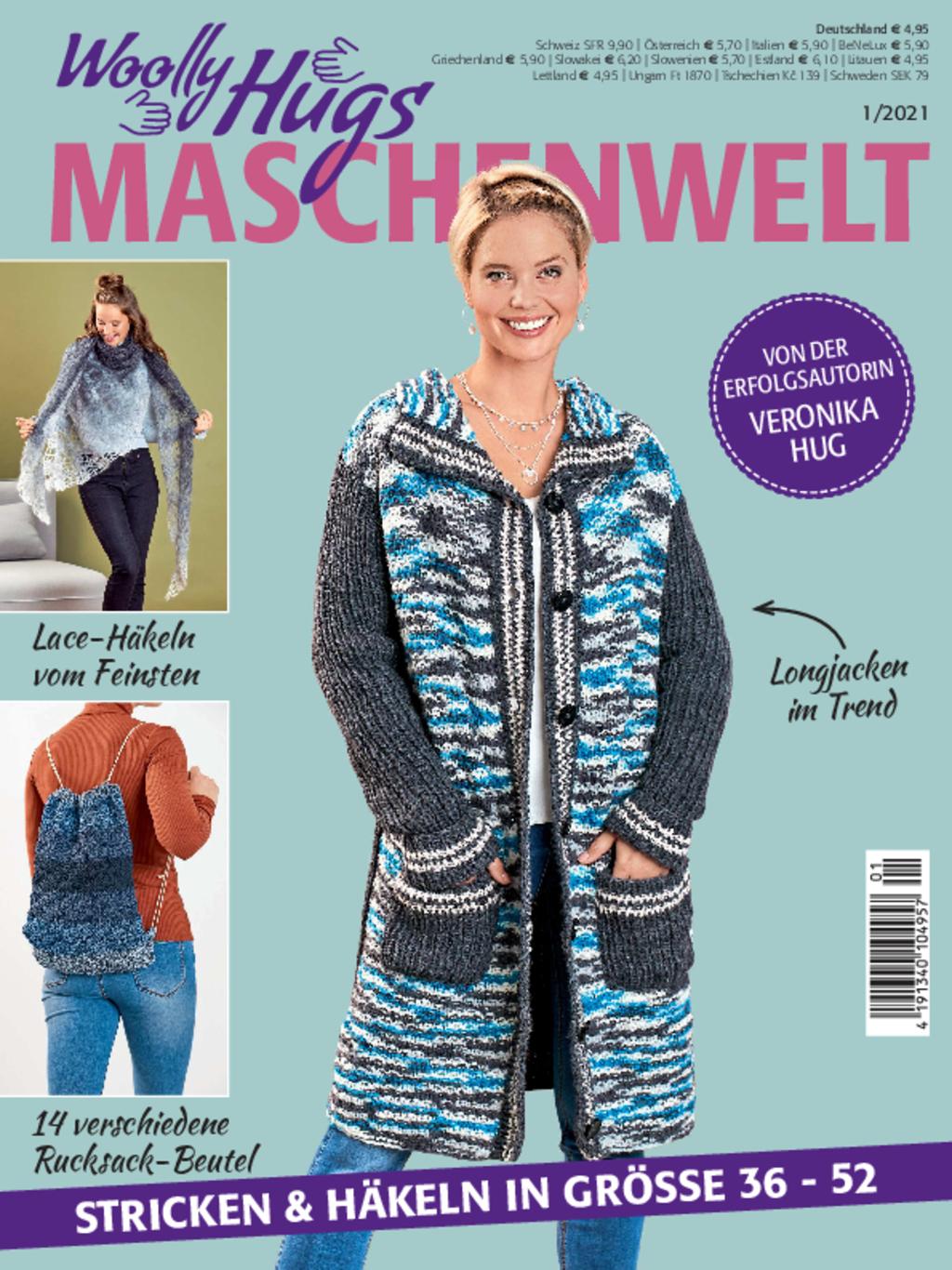 Woolly Hugs Maschenwelt Nr. 1/2021 - Stricken & Häkeln in Größe 36 - 52