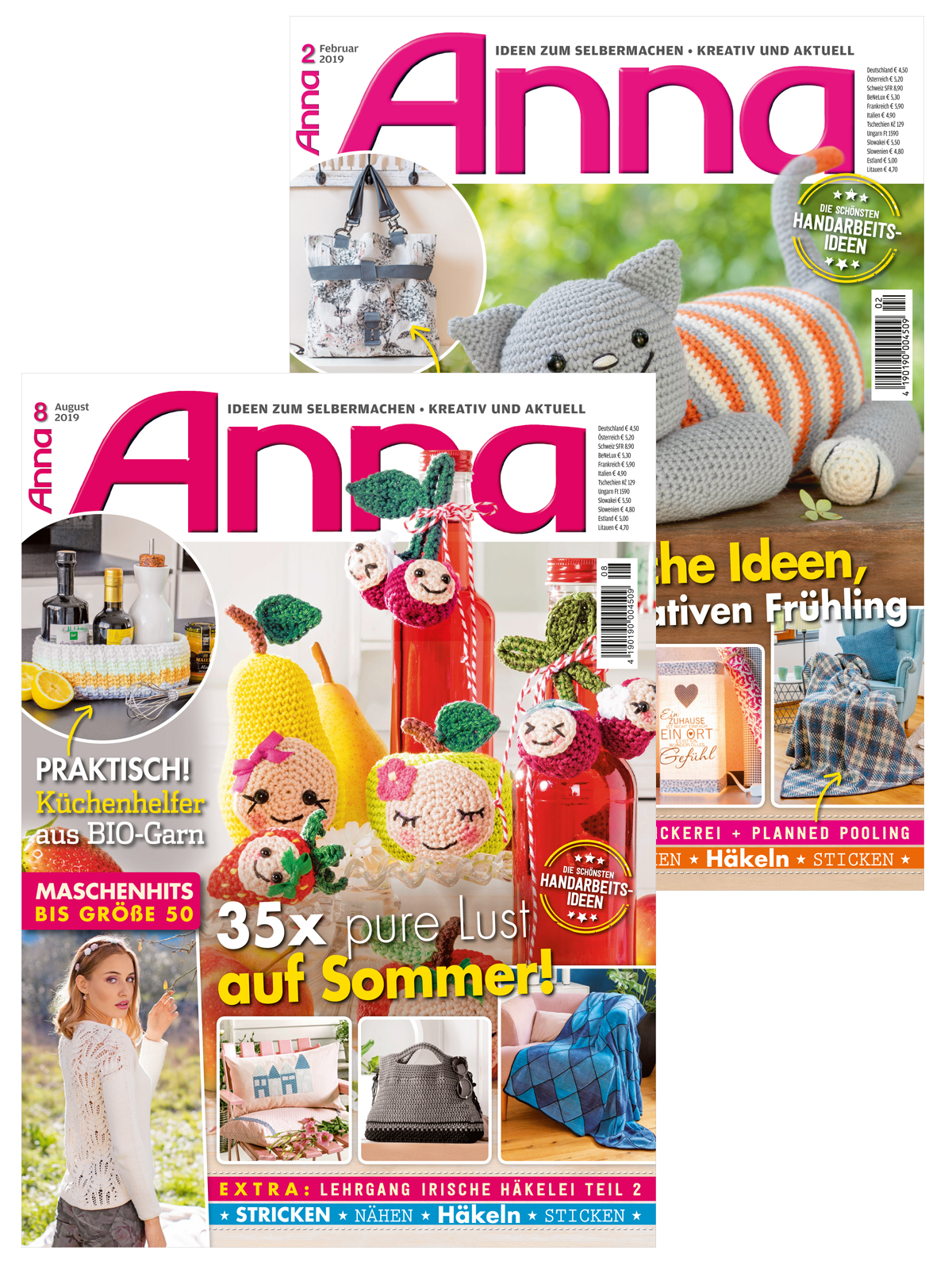 Zwei Zeitschriften im Sparpaket! Anna Nr. 02/2019 und Nr. 08/2019