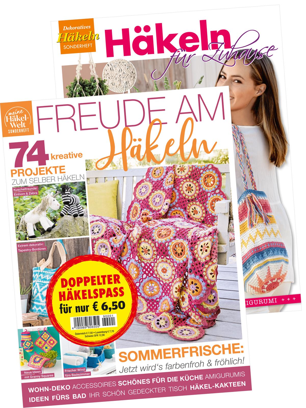 Zwei Zeitschriften: Häkeln Deko für Zuhause (HÄ 007 und DE 476)