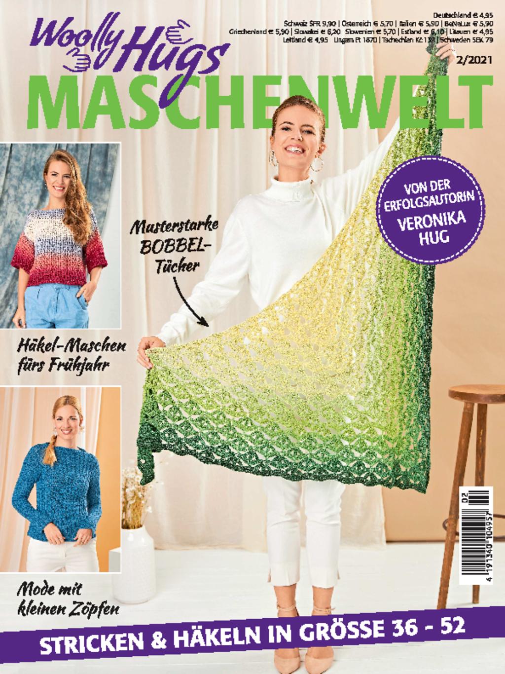 Woolly Hugs Maschenwelt Nr. 2/2021 - Stricken & Häkeln in Größe 36 - 52