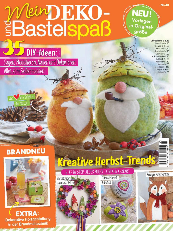 Mein Deko- und Bastelspaß Nr. 43/2021 - Kreative Herbst-Trends