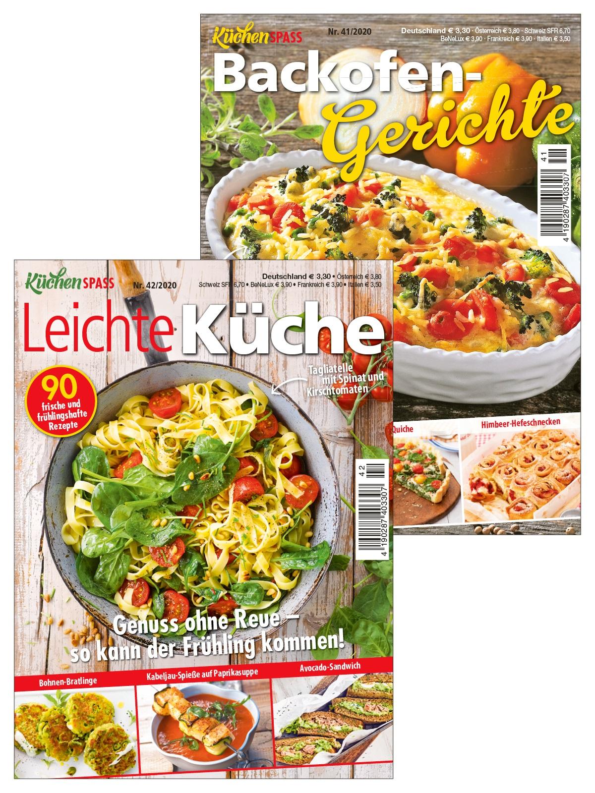 2 Zeitschriften statt 6,60 € nur 3,30 € - Küchenspaß Nr. 41/2020 und 42/2020