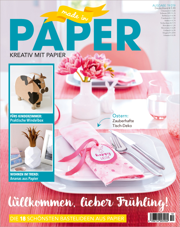 Made in Paper Nr. 19/2019  - Willkommen, lieber Frühling!