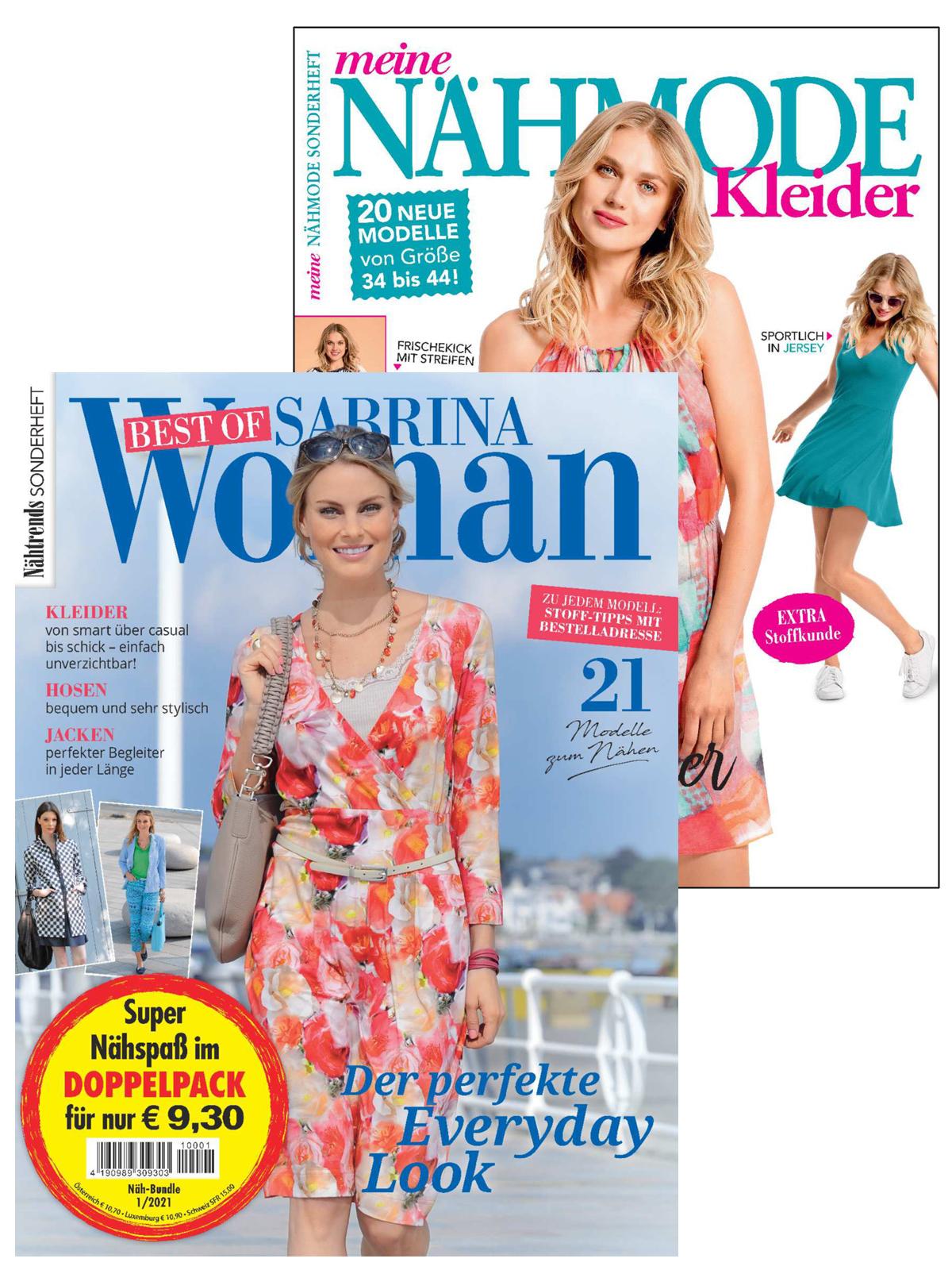 2 Zeitschriften: NT 049 Best of Sabrina Woman + MN 049 Kleider