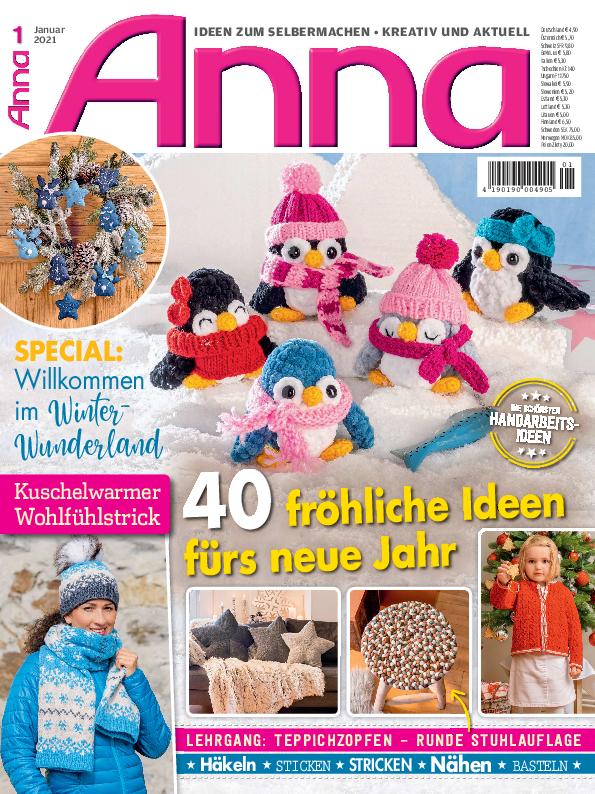 ANNA Nr. 01/2021 - 40 fröhliche Ideen fürs neue Jahr
